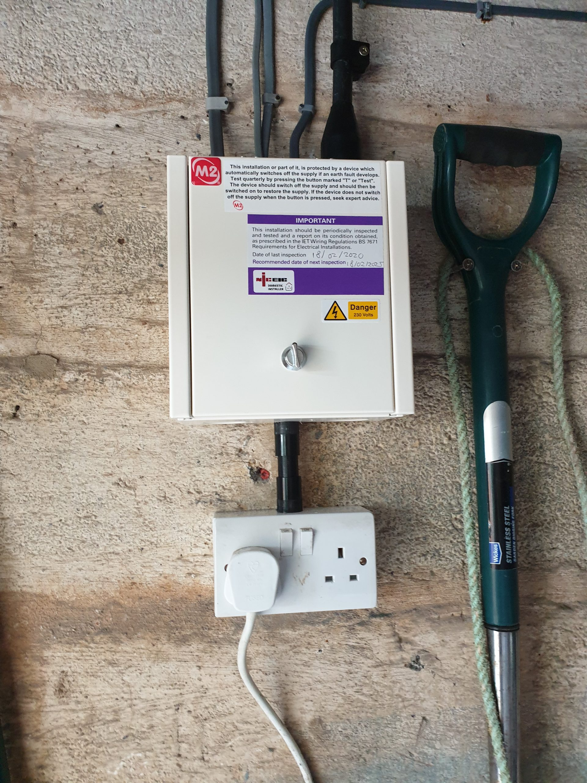 Creating new supply for remote shed